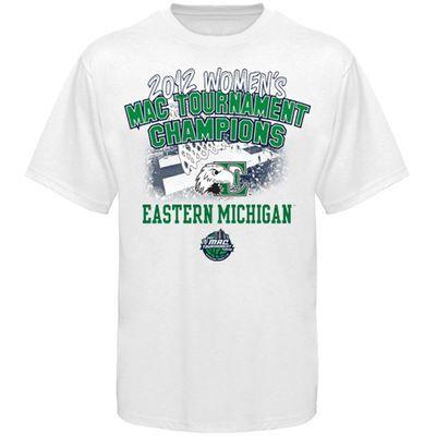 Eastern Michigan Eagles 2012 MAC Women's Basketball Tournament Champions Locker Room T-Shirt - White