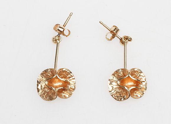 ÖRHÄNGEN. 1 par, 18k guld, vikt ca 4,7 gr. Smycken & Ädelstenar - Örhängen – Auctionet