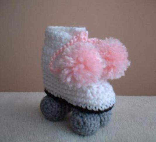 Resultado de imagen para patines con ruedas tejida a crochet