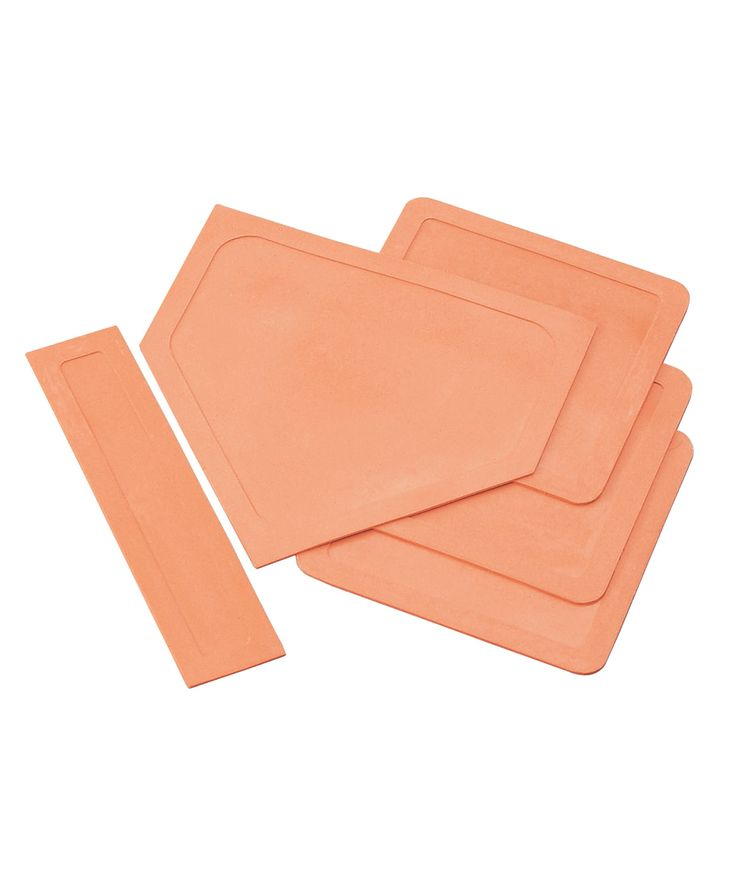 Orange Throw-Down Baseball Bases & Pitching Rubber