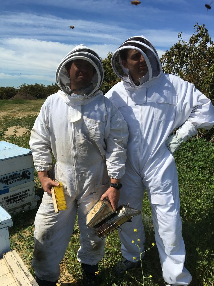 Keith and I in bee country