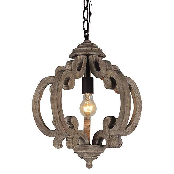 Amazon Com Docheer Rustic Wooden Chandelier Farmhouse 1 Light