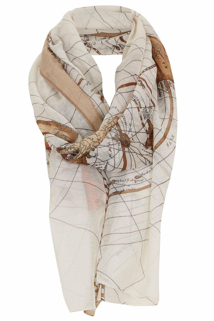 best scarves showing maps images on pinterest  silk scarves  - topshop map scarf via nordstrom