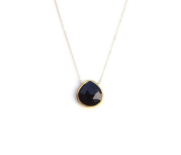 Maui Necklace--black onyx and gold
