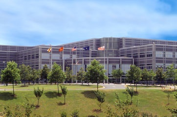 Office of Naval Intelligence headquarters in Suitland, Md., where Lt. Commander Reyna Chase works.
