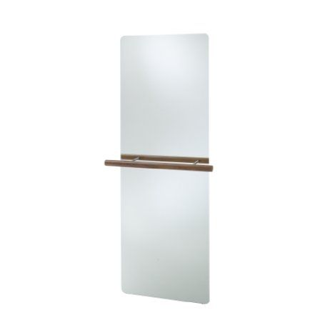 La Ballerine wall mounted mirror by G.Mino & D.Salvatico in 2012. it rail is solid european walnut, there is also a double version available. 170h x 70w x 3.5d cm