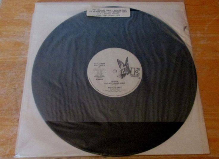 "Queen Fat Bottomed Girls Bicycle Race Promo 12"" single 1978 VG RARE vinyl record #RocknRoll"