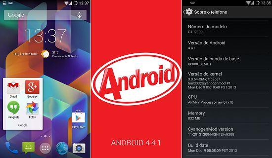 Roms alternativas do Android 4.4 Kitkat Para o Galaxy S3 começam a ser desenvolvidas : Baixakis