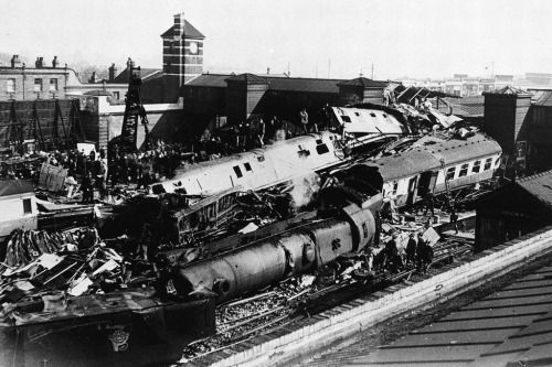 The scene of devastation after the Quintinshill rail disaster that occurred 100 years ago today. The incident involved five trains and over 200 people perished, many of them soldiers of the 1/7th Leith Battalion, the Royal Scots heading for Gallipoli.