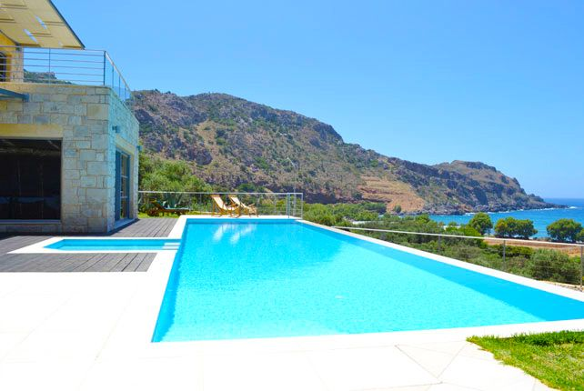4 Bedrooms, 4 Bathrooms, Private Pool, Near to the Beach, Panoramic Sea ViewOasis Luxury Villa to Rent in Sfinari, Chania, Crete.Oasis Villa is a combination of mountain and sea. The landscape will remain unforgettable to you,the residents,