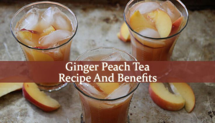 Ginger Peach Tea is mostly used as a remedy for colds, sore throat and cough. But it is also very helpful in indigestion, stomach ache and even nausea.