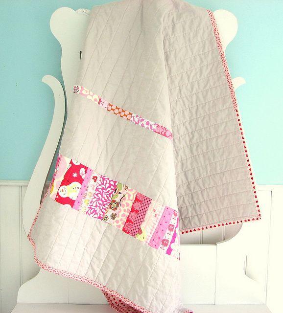Pink Strip Quilt
