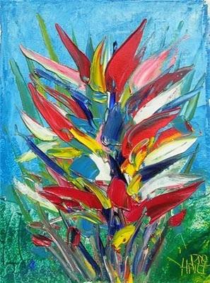 Pro Hart - Painting - Flower Study - Australian