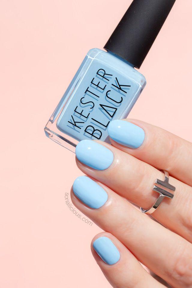 Kester Black Cumulus || Super pretty light blue nail polish
