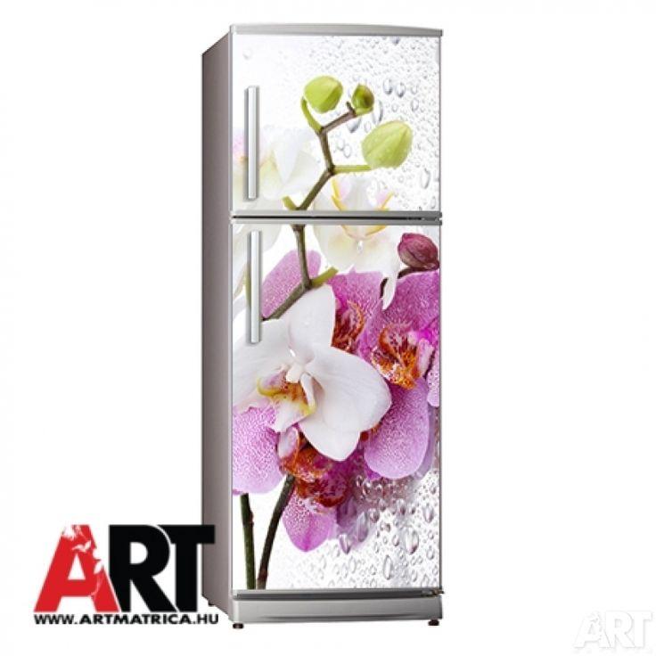 Hűtőmágnes  Orchidea hűtőszekrény mágnes matrica