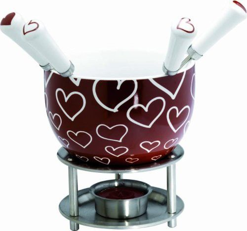 Mastrad Chocolate Fondue Set, Hearts