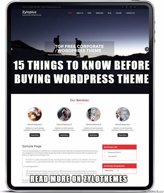 Visit https://goo.gl/K3KaKG           15 Things To Know Before Buying A Corporate WordPress Theme