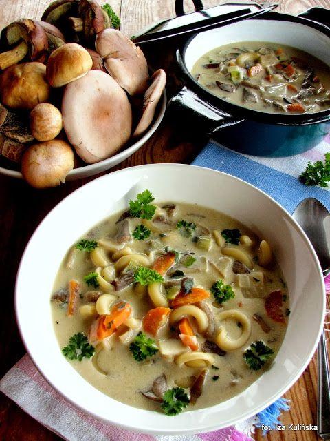 Smaczna Pyza sprawdzone przepisy kulinarne: Wielogrzybowa zupa z makaronem