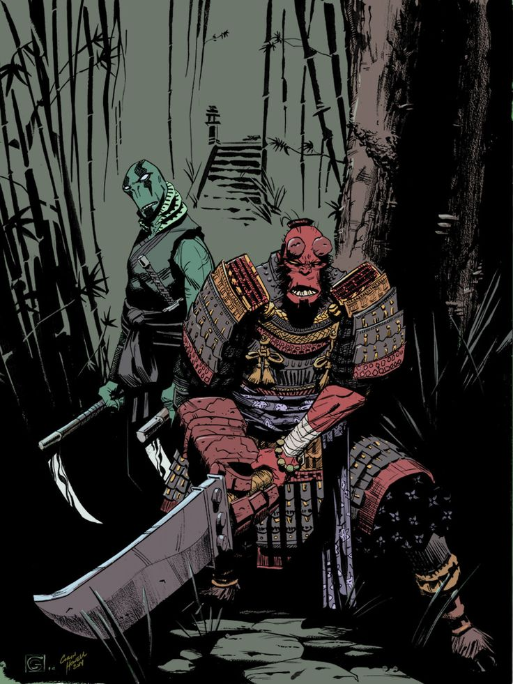 Samurai Hellboy & Ninja Abe Sapien | Stephen Green