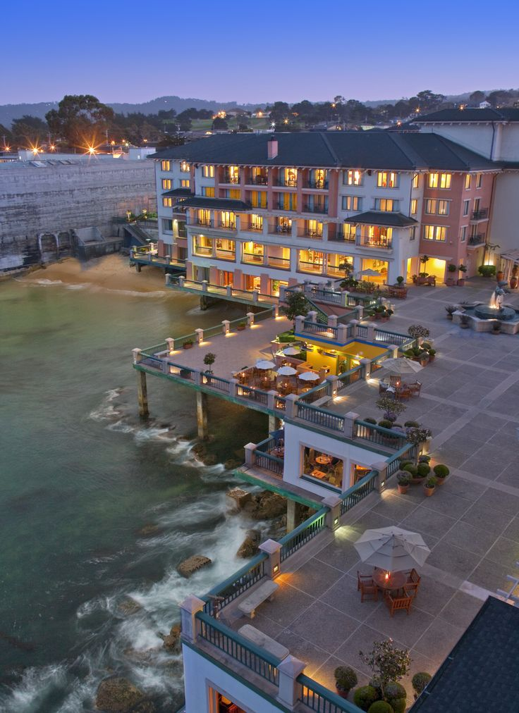Monterey Plaza Hotel Spa Is Dramatically Located Over The Bay On Cannery Row