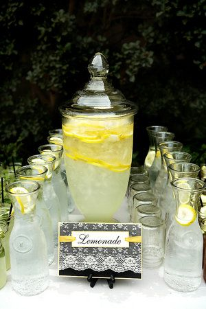 Lemonade stand! Love this for summer weddings (Photo by M. Norwood Photography)