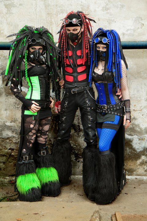 CYBERGOTH.  Never again will I worry about whether my butt looks big in any outfit.  If these peopke can have the confidence to walk down the street in these outfits, then I should feel confident too, in WHATEVER I wear.