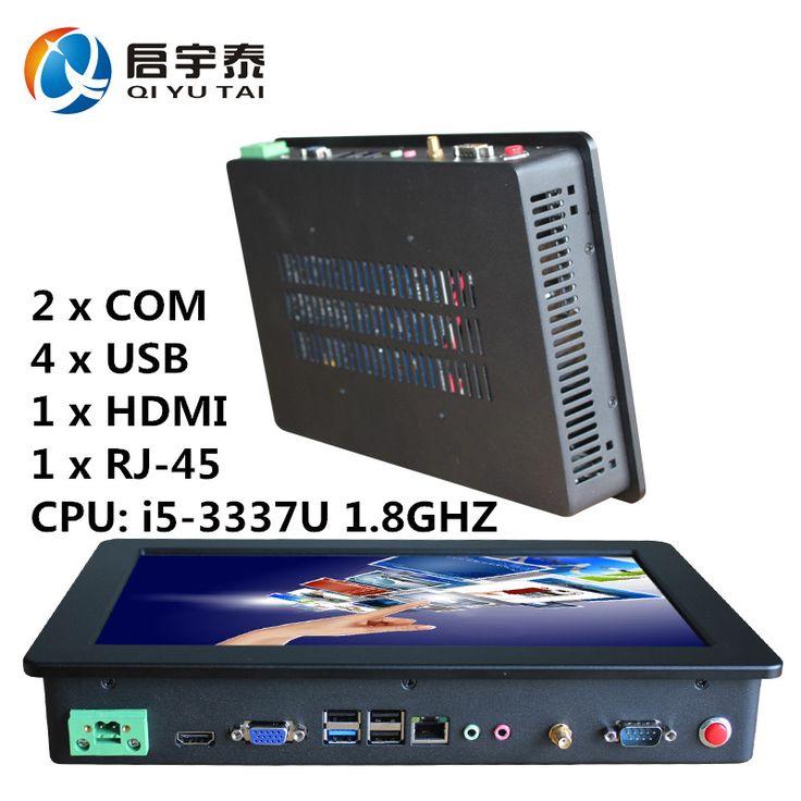 الكمبيوتر الصناعية مع 4 * usb 2 * com hdmi mini pc الصناعي Win10 النواة cpu i5 3337u 11.6 بوصة دقة الشاشة 1366x768