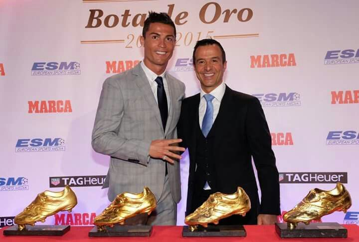 Cristiano y Jorge Mendes