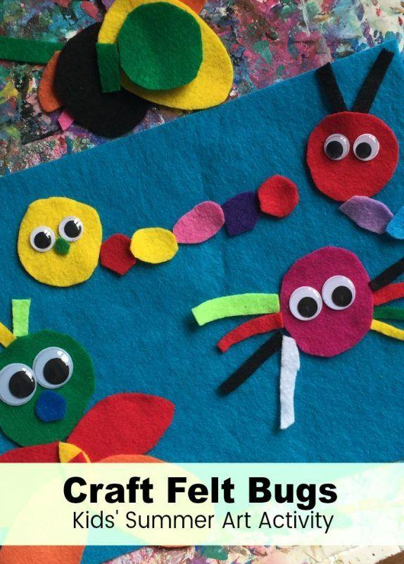 Summer Art Craft Felt Bugs Preschool Work Station Language Arts