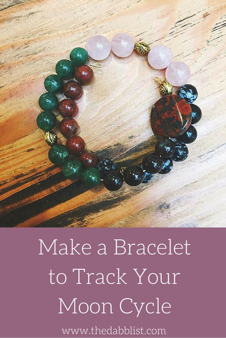 16 best 3 woman 3 images on pinterest sacred feminine mandalas make a bracelet to track your moon cycle fandeluxe Gallery