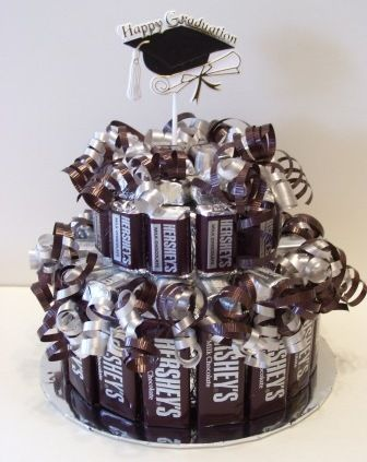 Cute candy cake for graduation