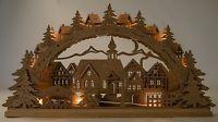 Weihnachtsdeko Winterdorf Holz Schwippbogen Fensterdeko beleuchtet Weihnachten