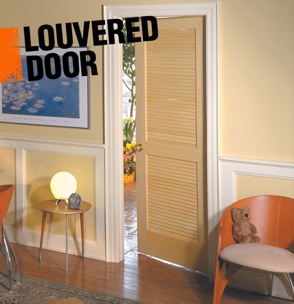 A louvered door is an interior door that has louvered panels inset into the frame, allowing for light and sound to pass through them.
