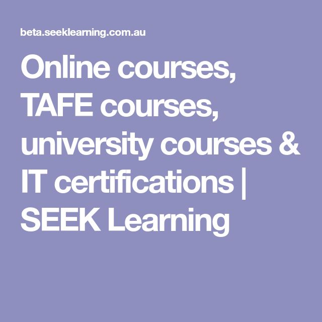 Online courses, TAFE courses, university courses & IT certifications | SEEK Learning