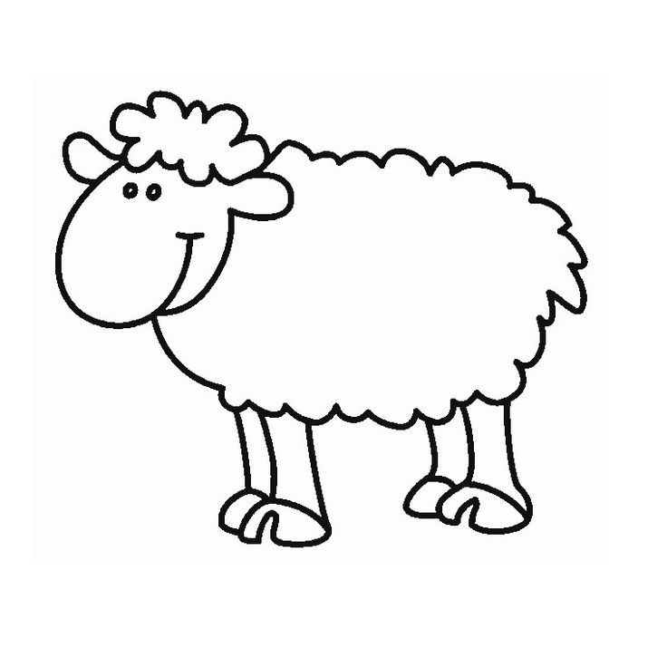 Les 25 meilleures id es de la cat gorie coloriage mouton - Mouton dessin ...