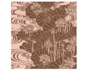 Lotus -Hasu- Pink Brown #Furoshiki #Fabric #Gift #Wrapping #Wrappingpaper #Japanese #Japan #Culture #Eco #Ecology #Environment #Creative #Wrap #Origami #Ideas #Textile #Art #Cloth #Cotton #Flower #Zen