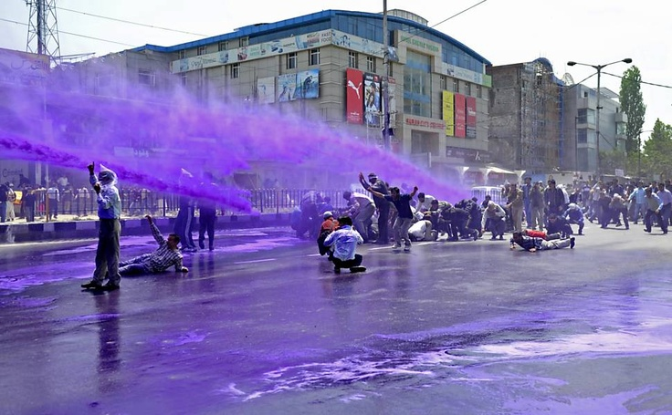 Protest in Srinagar - India