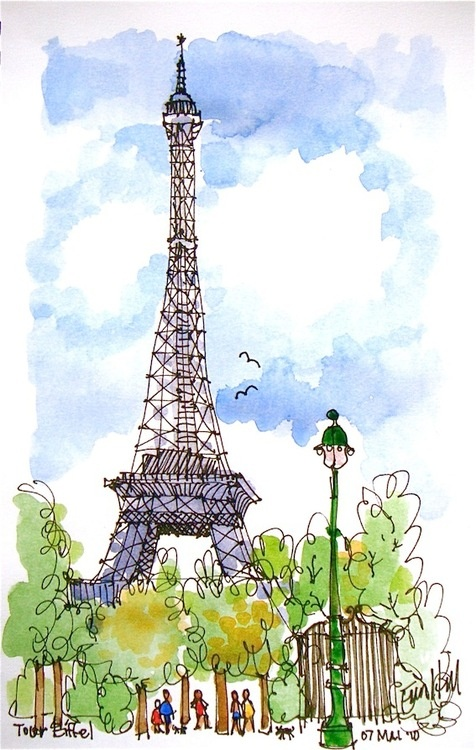 Préférence 117 best La Tour Eiffel images on Pinterest | Drawings, Tour  DX83