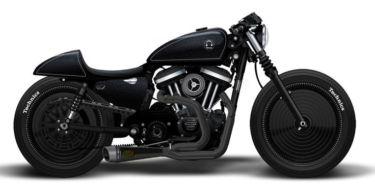 Custom Bike Roland Sands Hommage an Technics Plattenspieler