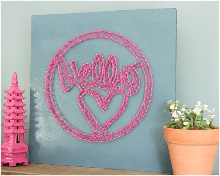 803 best string art images on pinterest spikes craft and nail hello string art prinsesfo Gallery