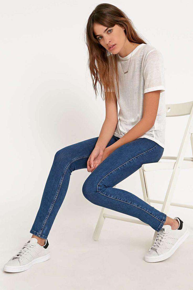 Light Before Dark Super High-Rise Skinny Jeans in Redcast