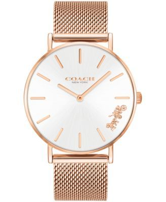 fabfc34311f Women s Perry Created for Macy s Rose Gold-Tone Stainless Steel Mesh  Bracelet Watch 36mm