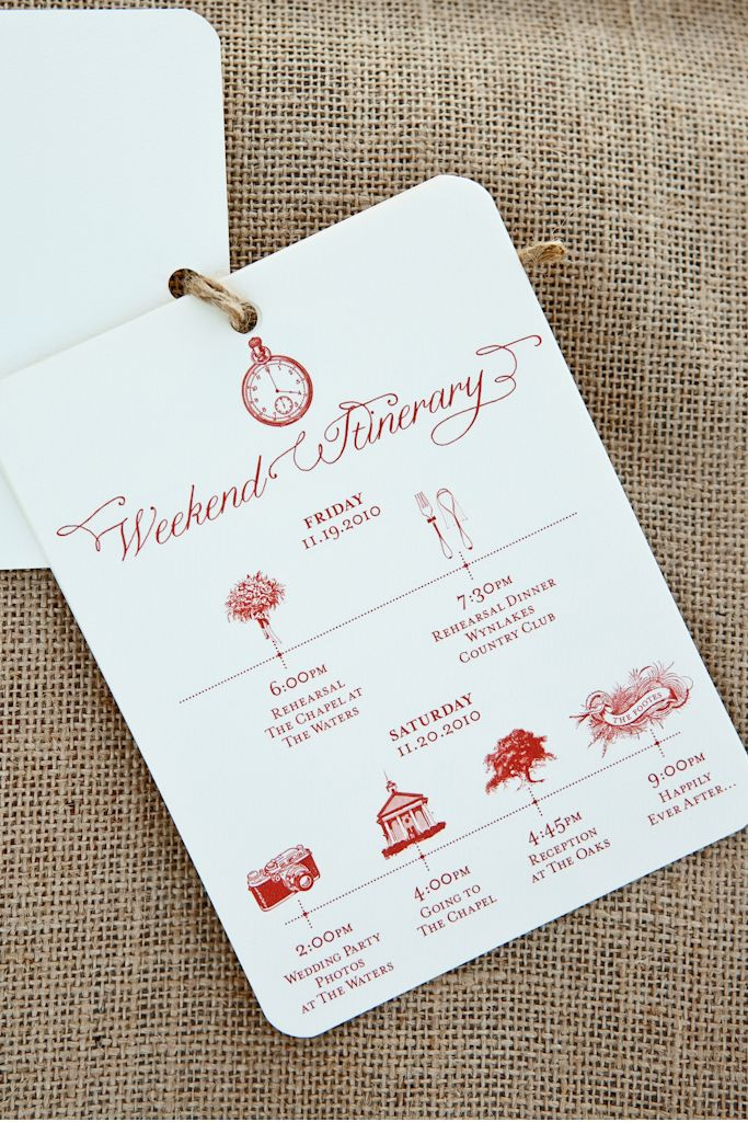 itinerary... i love these!