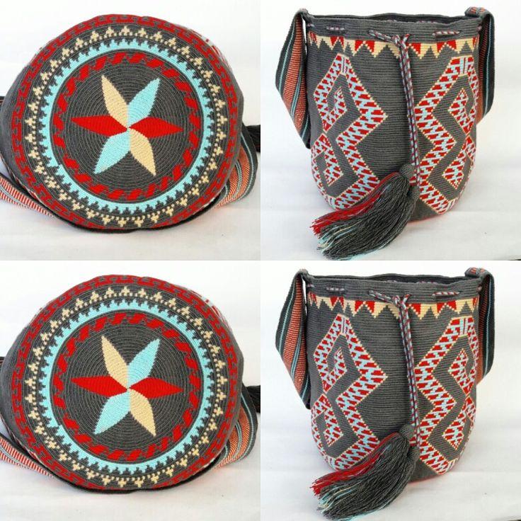 Wayuu bag traditional geometric