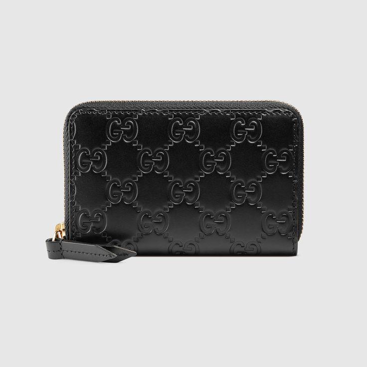 Gucci gucci signature card case womens designer
