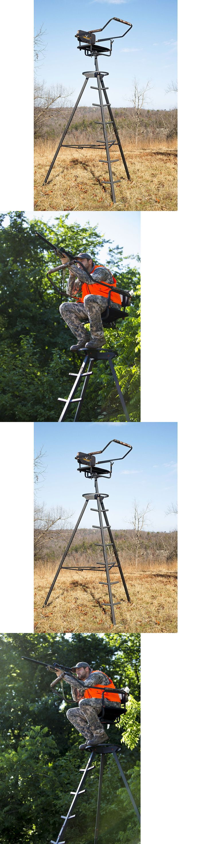 Tree Stands 52508: Hunting Tripod Stand 10 Portable Tower Game Deer Rifle Archery Bow Blind -> BUY IT NOW ONLY: $141.5 on eBay!