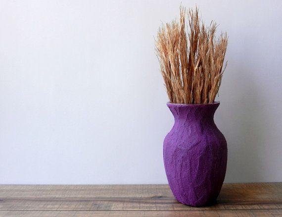Vase / violet Vase  / dark Purple Home Decor by CarriageOakCottage, $22.00