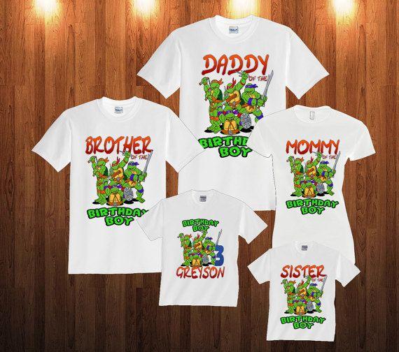 TMNT Ninja Turtles Birthday Long Sleeve and Short Sleeve by TeezGallery | Etsy