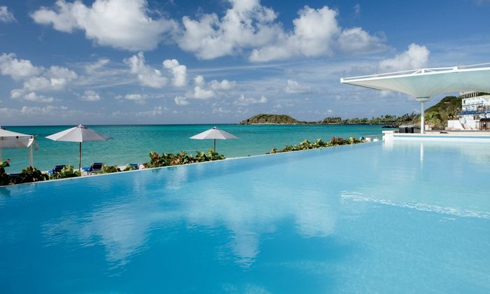 Groupon: 4- or 7-Night All-Inclusive Stay at Sonesta Great Bay Beach Resort, Casino & Spa in St. Maarten. From $1199, Includes Taxes & Fees. #TravelDeals
