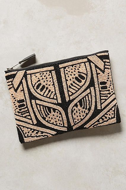 Maru Beaded Pouch - anthropologie.com